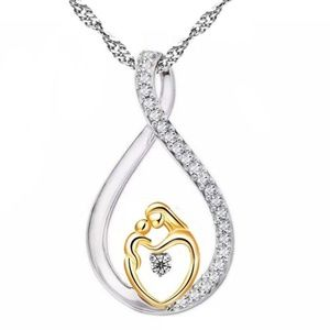 Jewelry - Two tone Mother and Child Pendant
